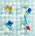 fused glass tile, dichroics